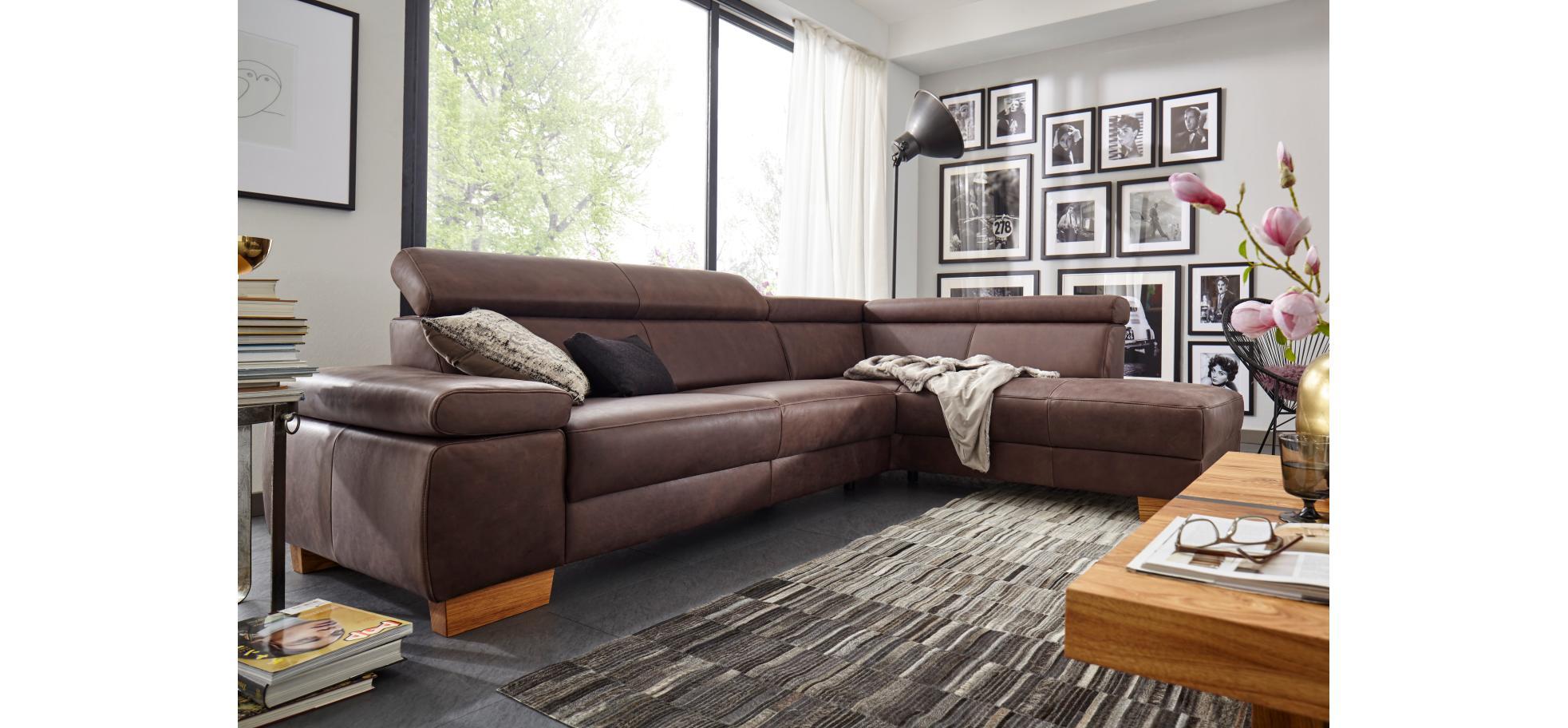 hochwertiges lederecksofa mit sitztiefenverstellung natura philadelphia m belhaus pohl. Black Bedroom Furniture Sets. Home Design Ideas