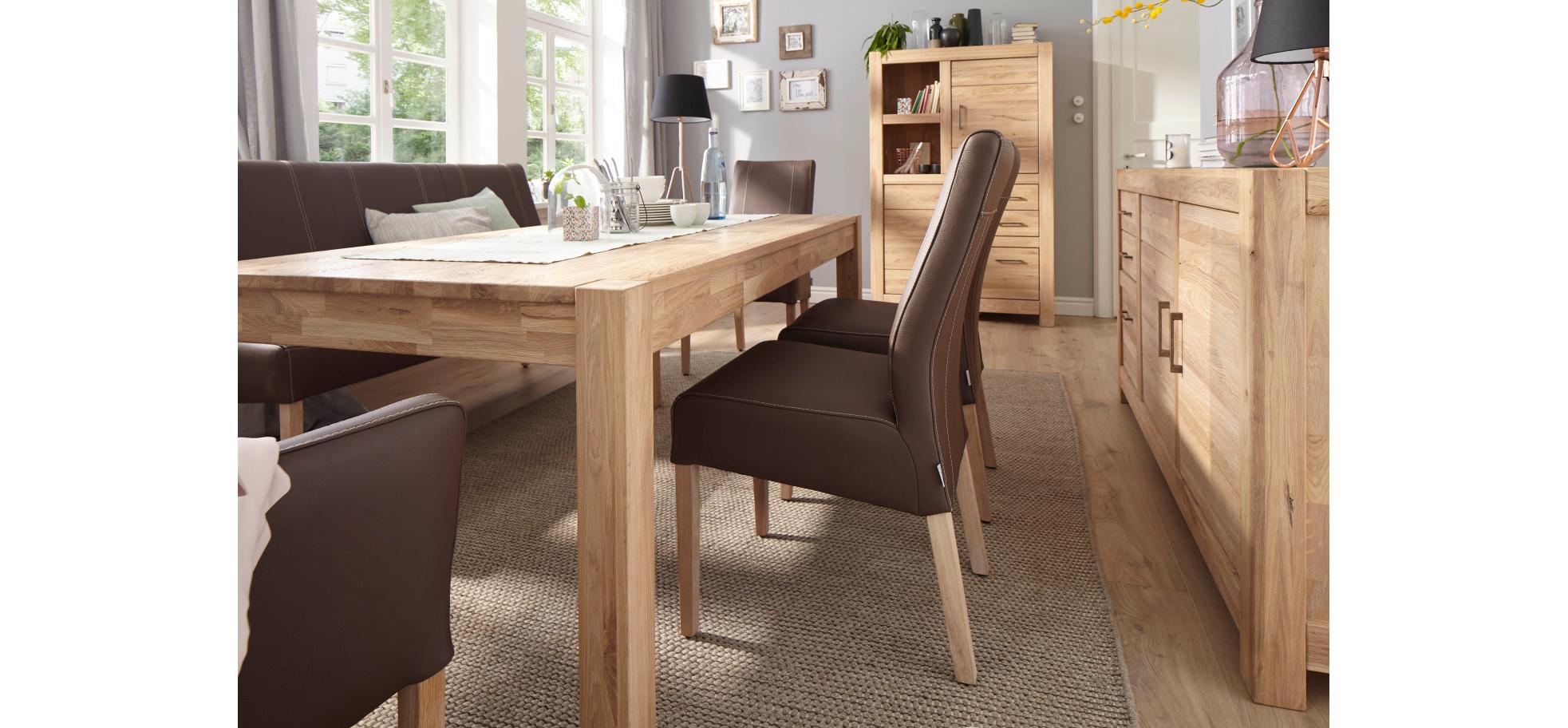 armlehn lederstuhl in espresso und f en in eiche bianco natura utah m belhaus pohl. Black Bedroom Furniture Sets. Home Design Ideas