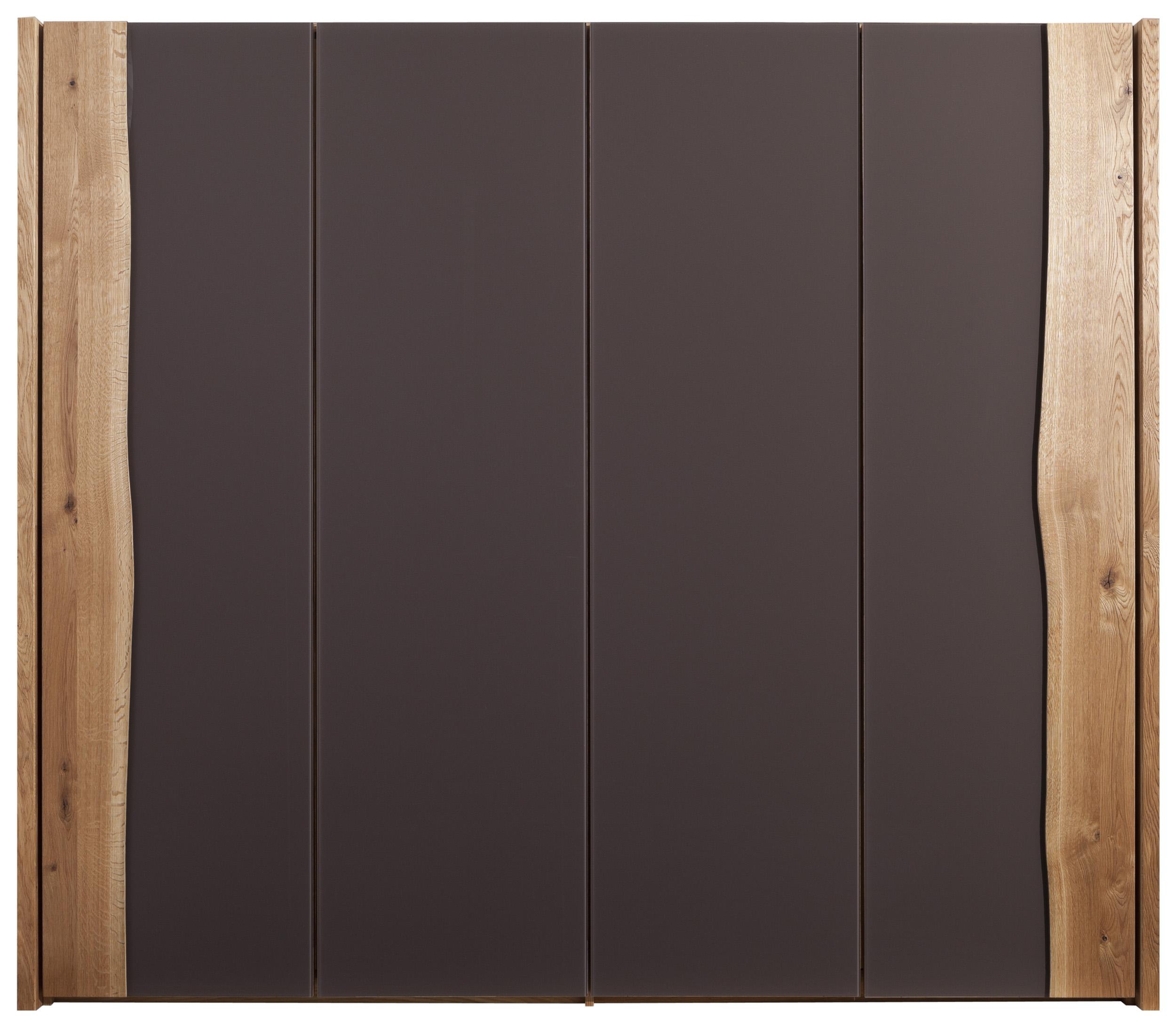 4 t riger kleiderschrank aus eiche und braunglas natura new jersey m belhaus pohl. Black Bedroom Furniture Sets. Home Design Ideas