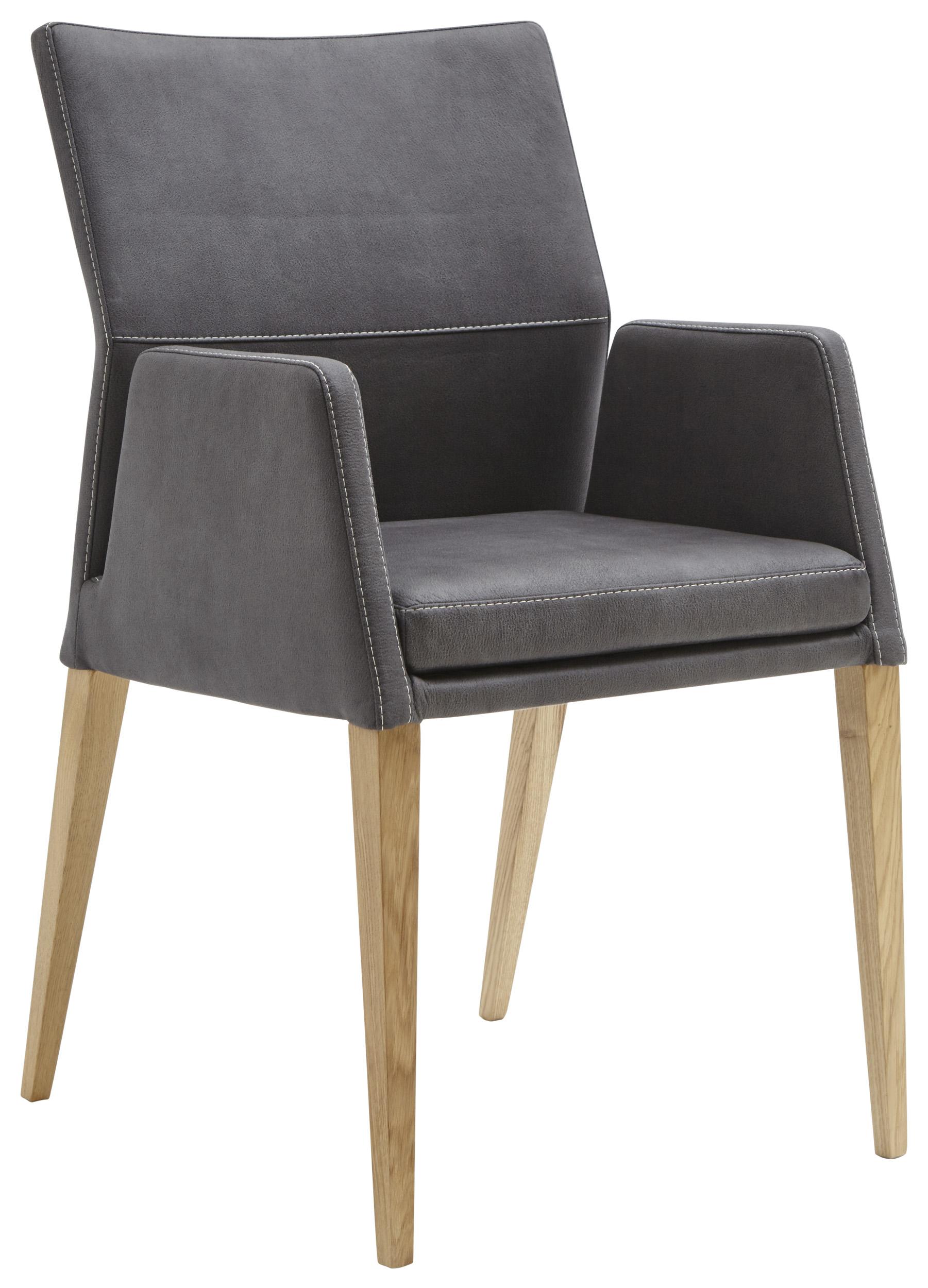armlehnstuhl in anthrazit farbenem stoff natura carry m belhaus pohl wilhelmshaven. Black Bedroom Furniture Sets. Home Design Ideas