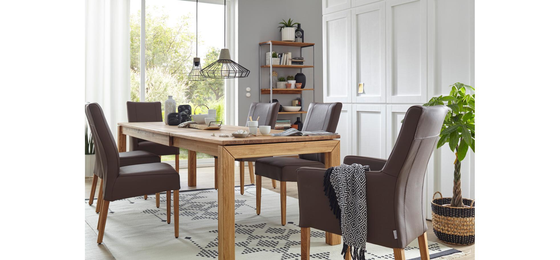 armlehn lederstuhl in espresso und f en in eiche ge lt natura utah m belhaus pohl. Black Bedroom Furniture Sets. Home Design Ideas