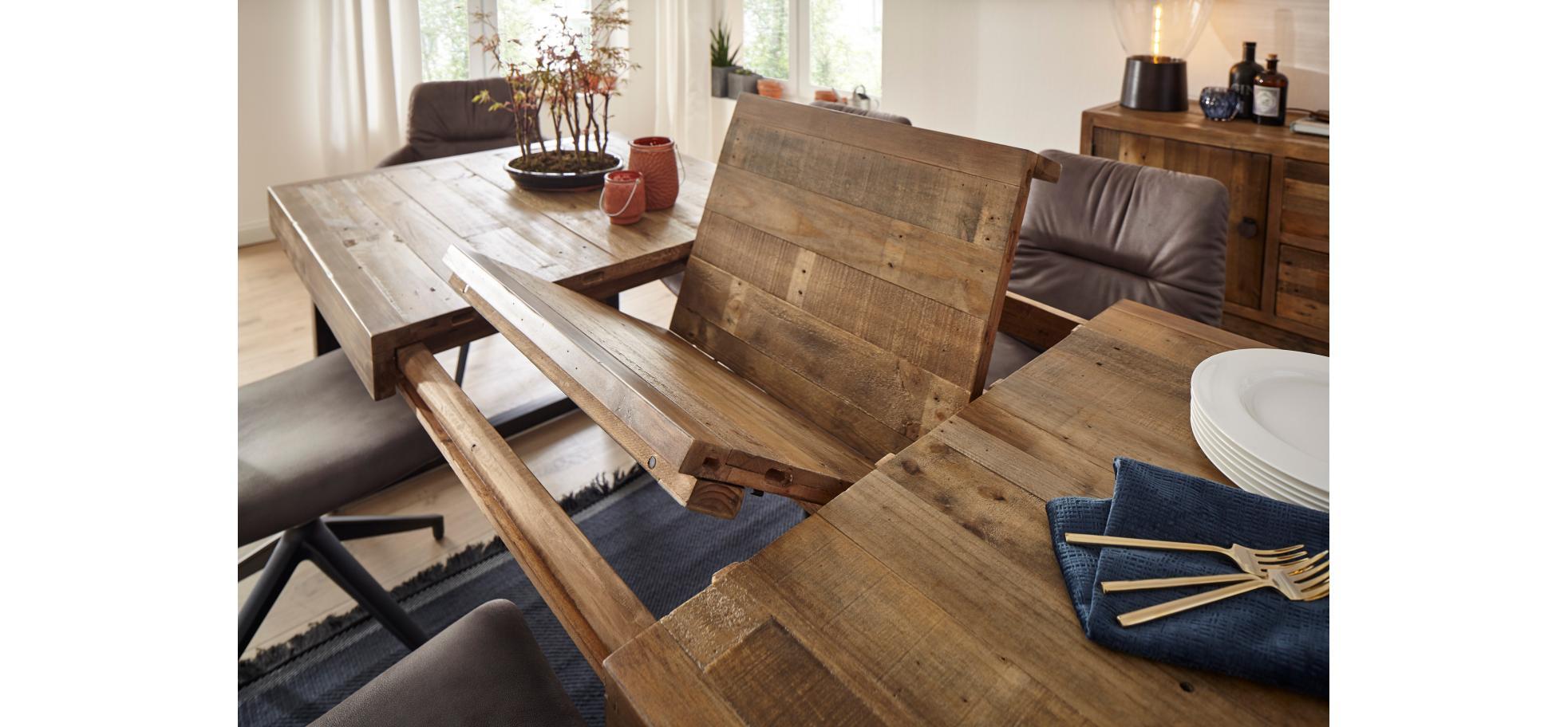 Ausziehbarer Esstisch In Pinie Natura Woodenforge Mobelhaus Pohl