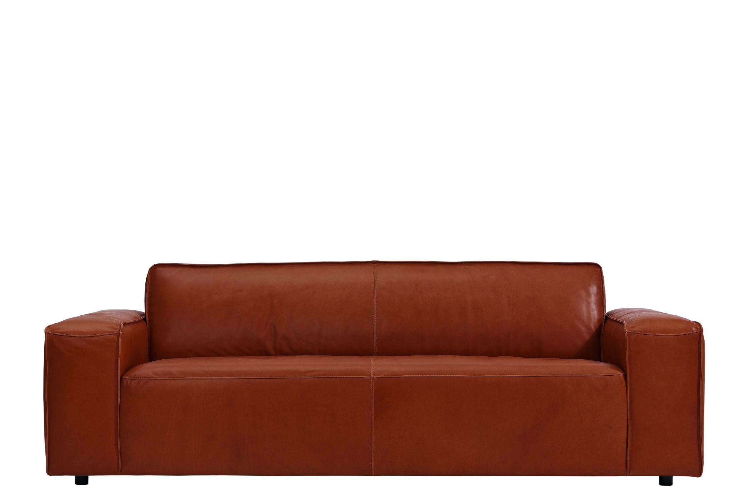 Cognac Farbenes 3 Sitzer Sofa In Leder Natura Denver Mobelhaus