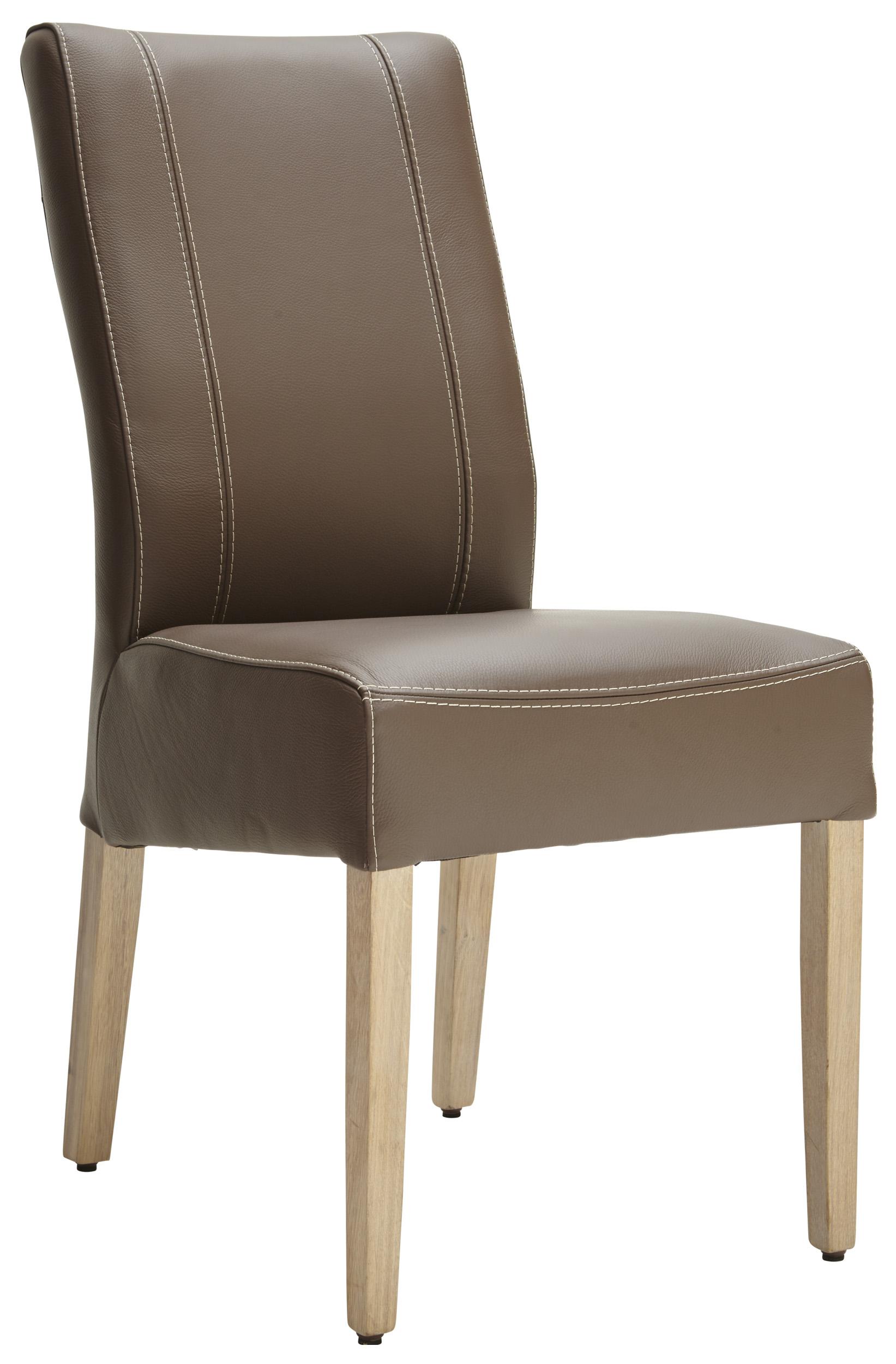 espresso farbener lederstuhl mit f en in eiche bianco natura utah m belhaus pohl. Black Bedroom Furniture Sets. Home Design Ideas