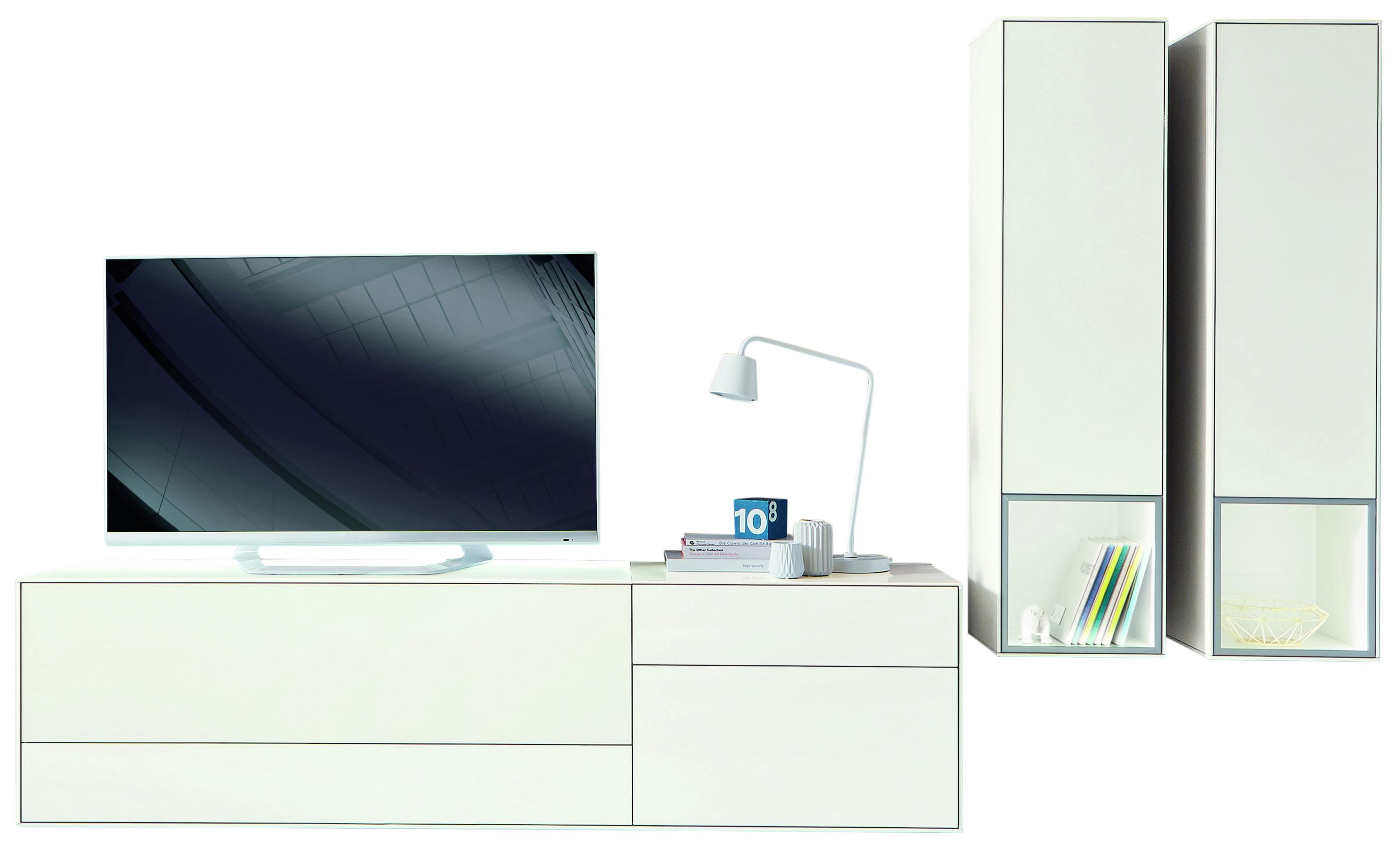 Wunderbar Hochwertige Wohnwand Referenz Von Moderne In Lack Hochglanz Weiß | Mö