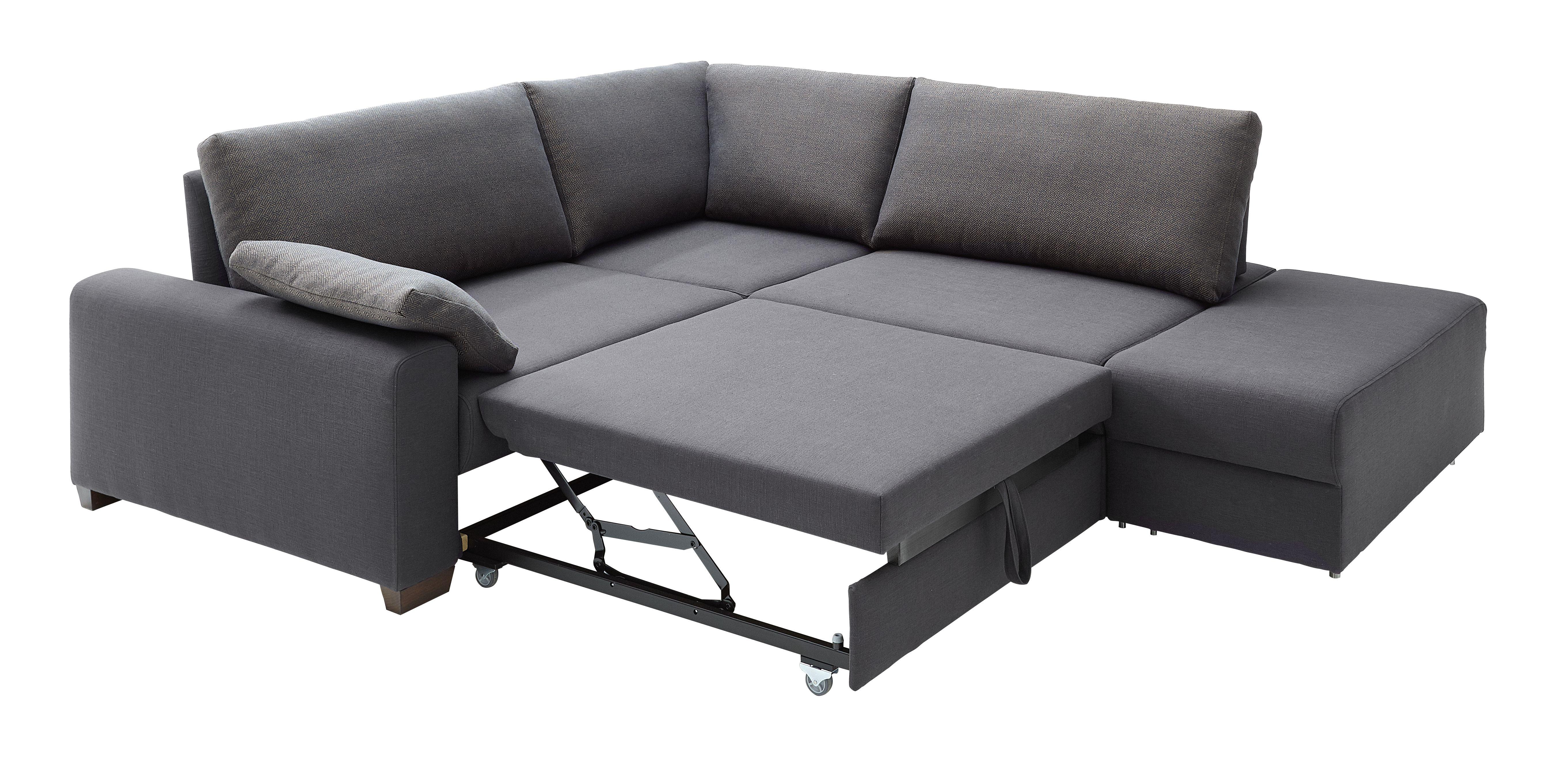 Moderne Eckgarnitur Mit Schlaffunktion In Grau